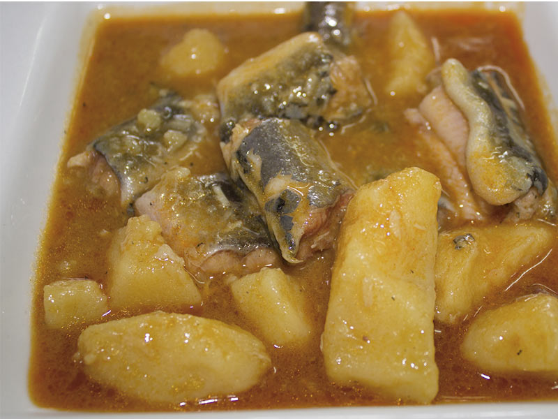 Alli pebre del Restaurant Racó Meliana