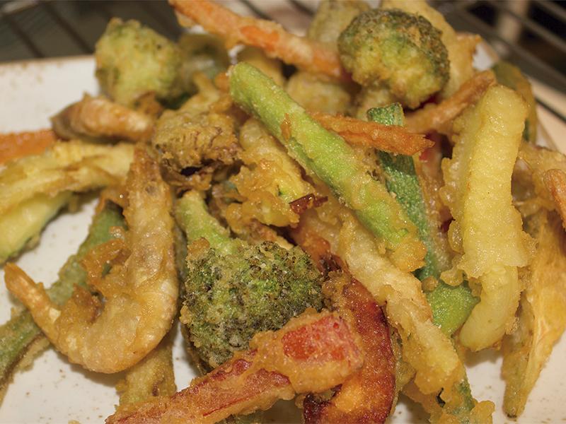 verduras en tempura Racó de Meliana